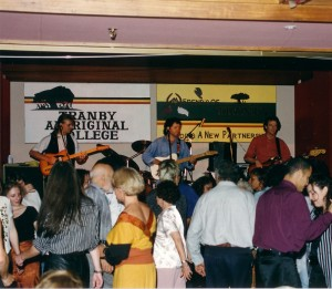 Troy Cassar Daley at the Friends of Tranby Dinner, 1995