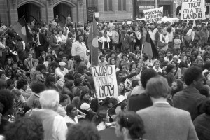 Land Rights March outside NSW Parliament, 13 August 1981